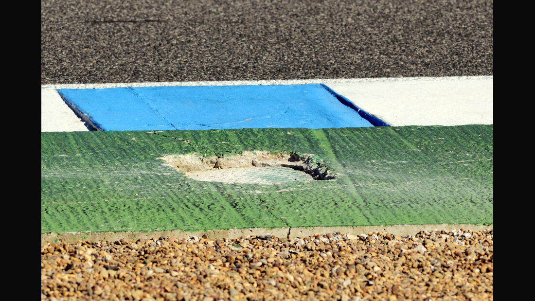 Schlagloch F1 Test Jerez 2013 Highlights
