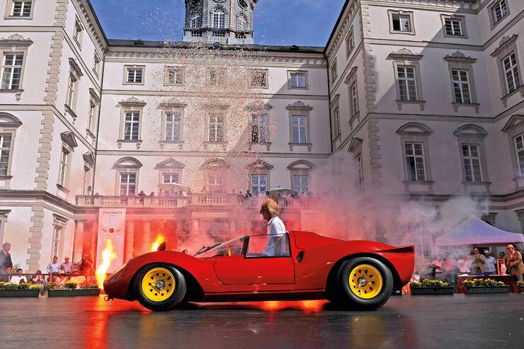 Schloß Bensberg, Ferrari Dino 166P/206P, Seitenansicht
