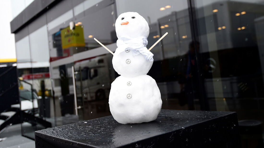 Schnee - F1-Test Barcelona 2018