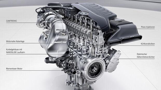Schnittmodell Mercedes M256 Reihen-Sechszylindermotor