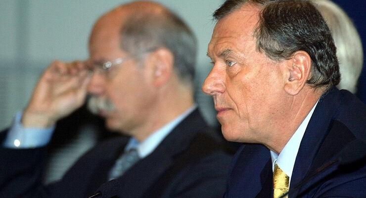 Schrempp und Zetsche (links)