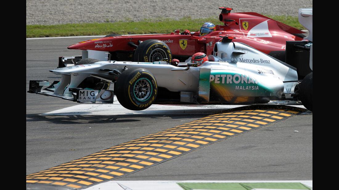 Schumacher Alonso GP Italien Monza 2011