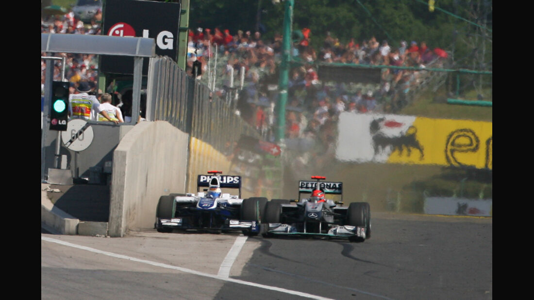 Schumacher Barrichello GP Ungarn 2010