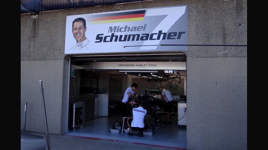 Schumacher-Box - Formel 1 - GP Kanada - 7. Juni 2012