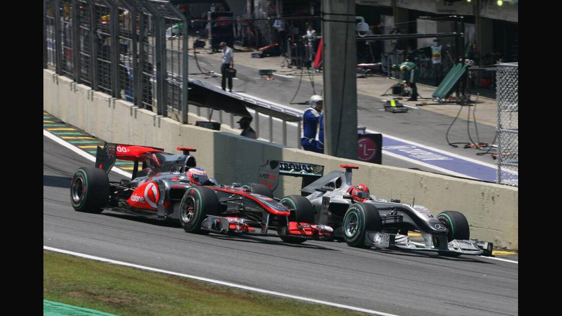 Schumacher Button GP Brasilien 2010