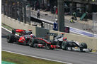 Schumacher Button GP Brasilien 2010