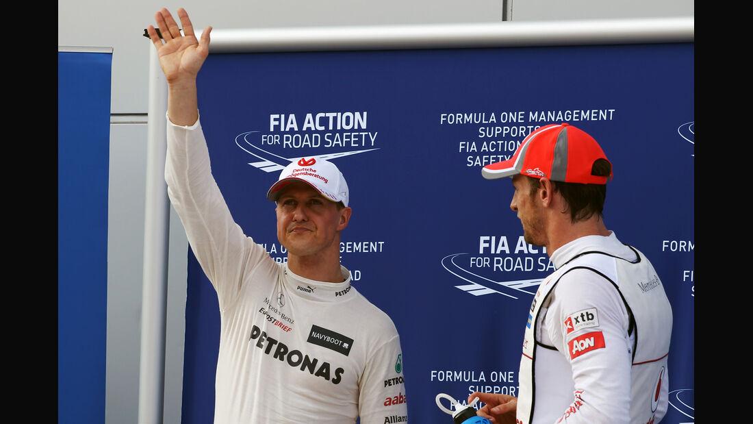 Schumacher & Button - GP Malaysia - 24. März 2012