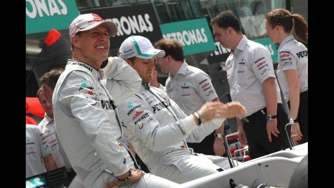 Schumacher GP Malaysia 2011 Formel 1