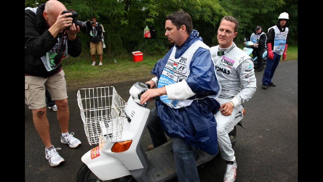 Schumacher - GP Ungarn - Formel 1 - 31.7.2011 - Highlights