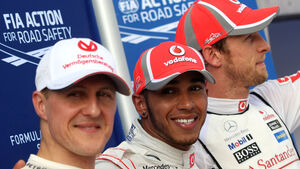 Schumacher, Hamilton & Button - GP Malaysia - 24. März 2012