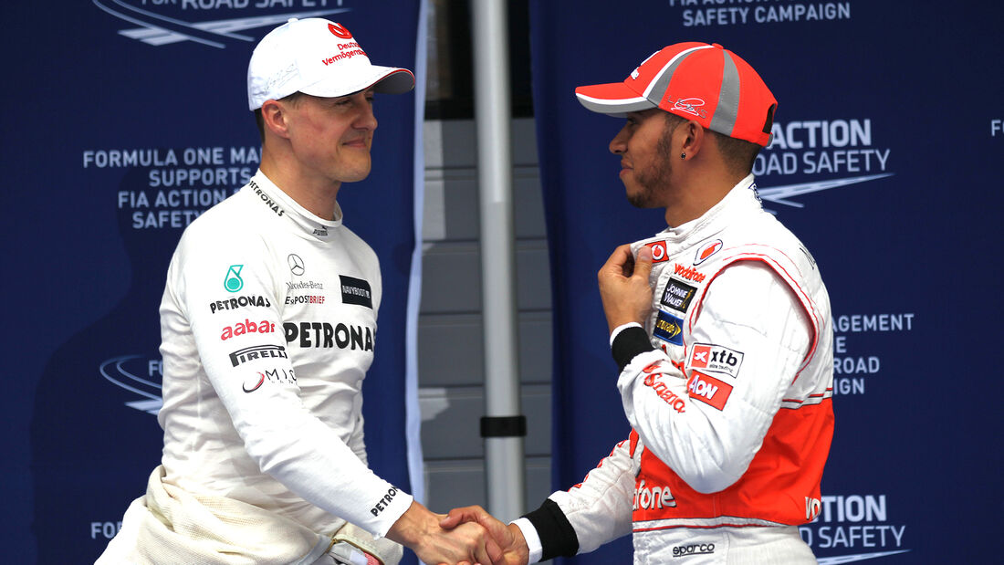 Schumacher & Hamilton - Formel 1 - GP China 2012