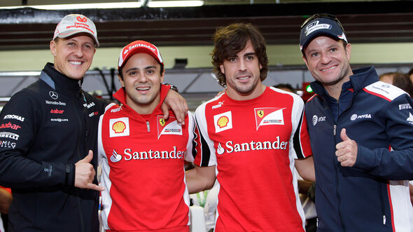 Schumacher, Massa, Alonso & Barrichello - GP Brasilien 2011