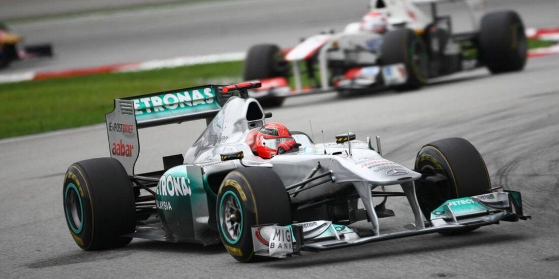 Schumacher Massa GP Malaysia 2011 Formel 1