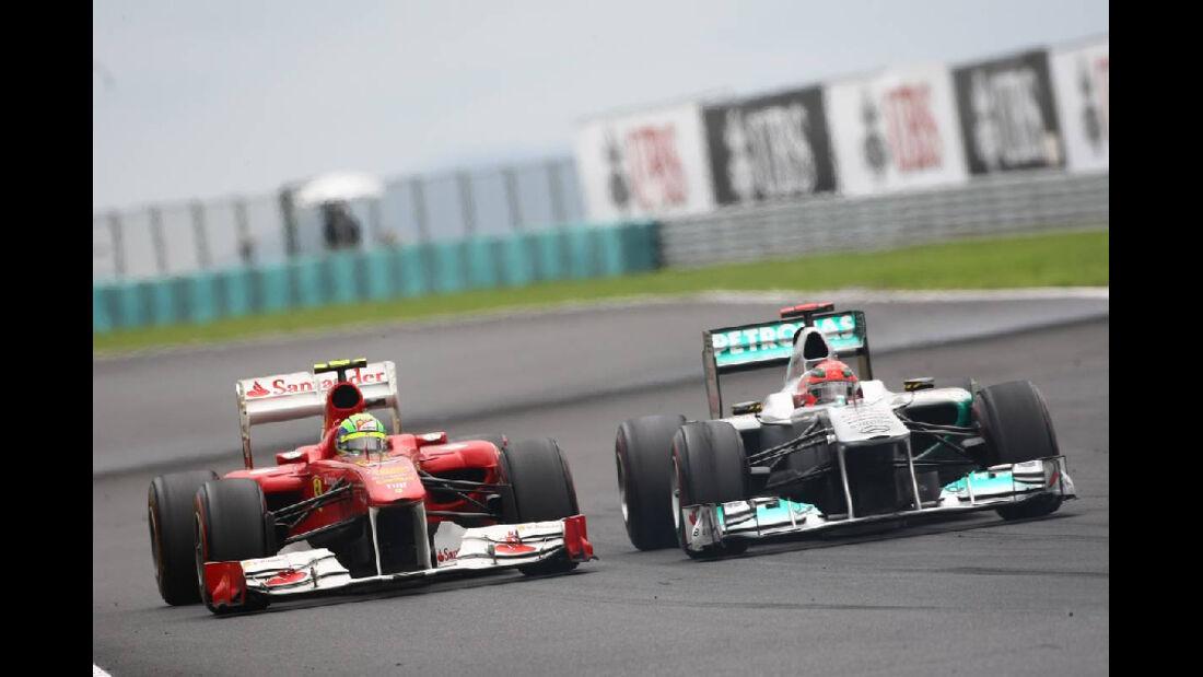 Schumacher Massa - GP Ungarn - Formel 1 - 31.7.2011 - Highlights