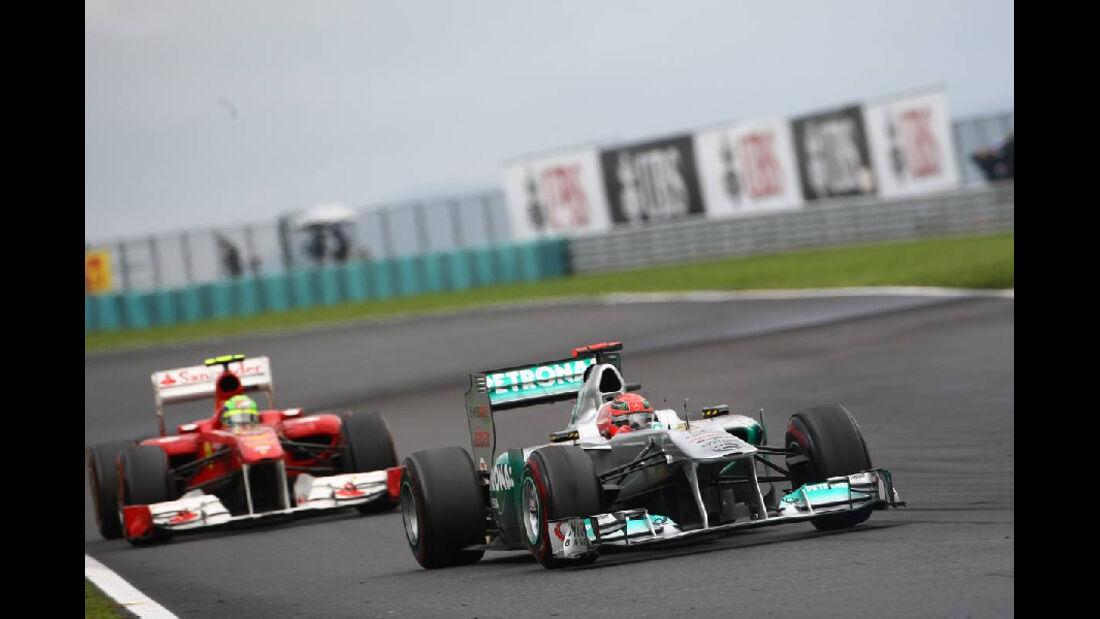Schumacher - Noten - GP Ungarn - Formel 1 - 31.7.2011