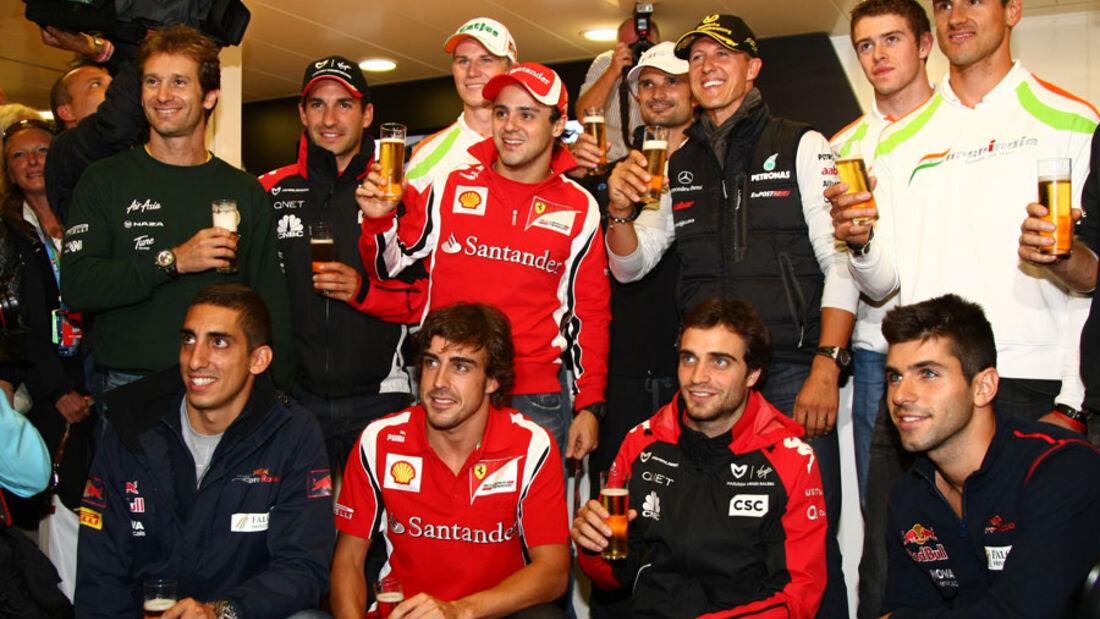 Schumacher-Party Spa 2011