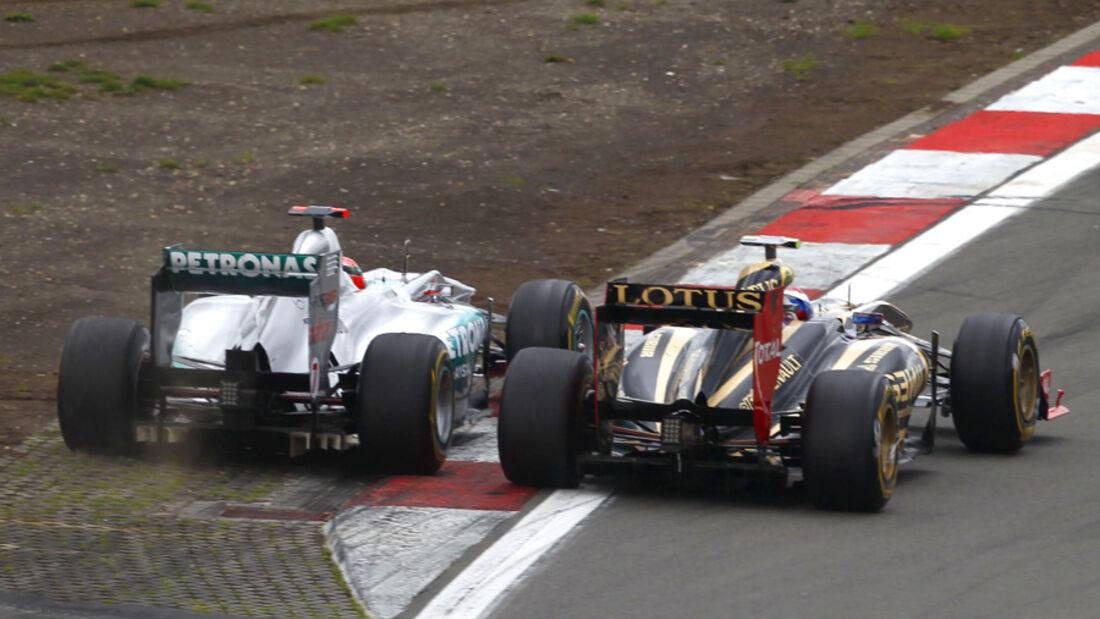 Schumacher Petrov GP Deutschland 2011 Noten