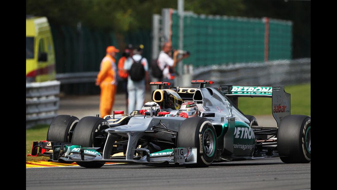 Schumacher & Räikkönen - GP Belgien 2012