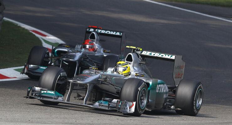 Schumacher Rosberg Mercedes GP Italien 2011