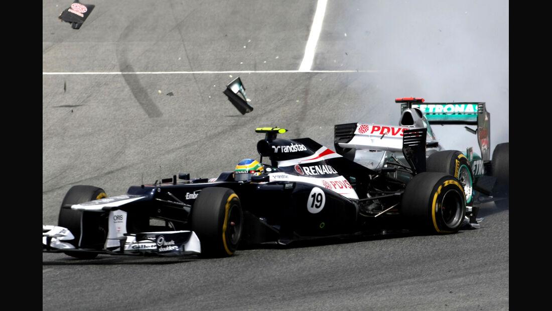 Schumacher Senna GP Spanien 2012