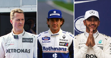 Schumacher, Senna & Hamilton - Collage