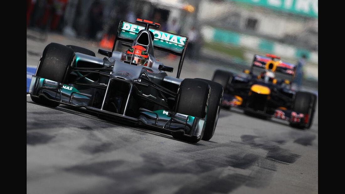 Schumacher Vettel F1 2012