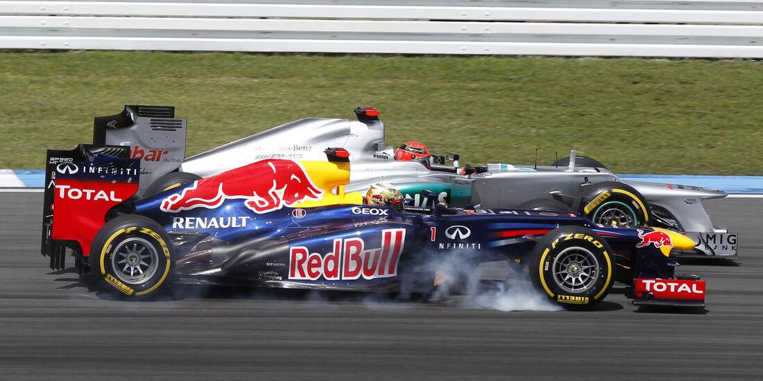 Schumacher Vettel GP Deutschland 2012