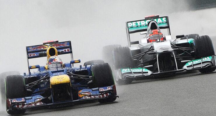Schumacher Vettel GP England 2012