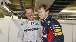 Schumacher & Vettel - GP Singapur 2014