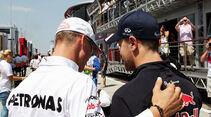 Schumacher & Vettel GP Ungarn 2012