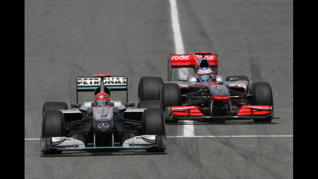 Schumacher und Button