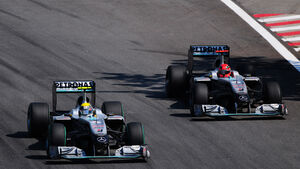 Schumacher und Rosberg