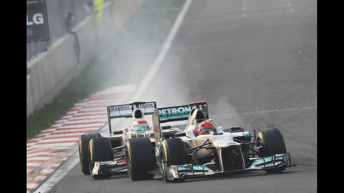 Schumacher vs. Perez GP Korea 2012