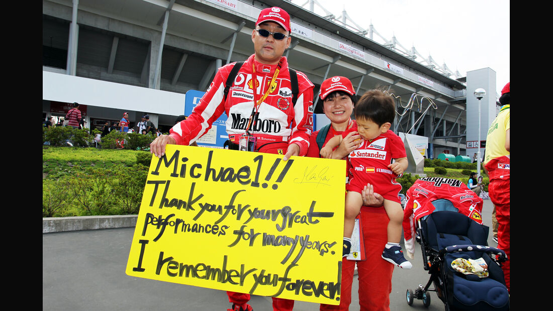 Schumi-Fan - Formel 1 - GP Japan - Suzuka - 6. Oktober 2012