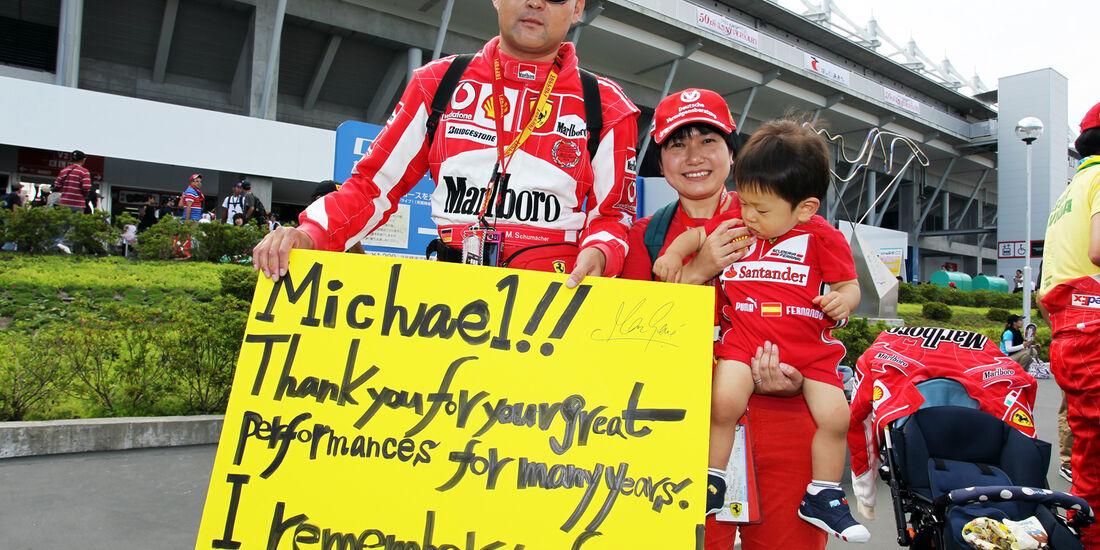 Schumi-Fan - Formel 1 - GP Japan - Suzuka - 6. Oktober 2012