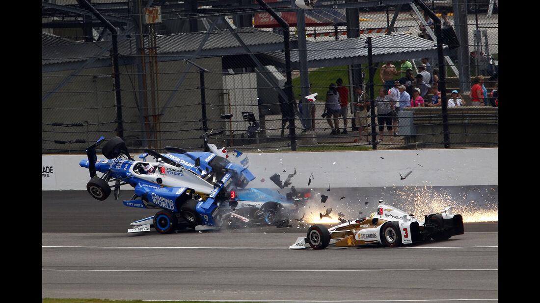 Scott Dixon - IndyCar-Crash - Indy500 - 2017