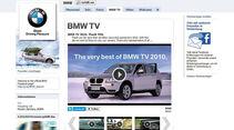 Screenshot,  Autohersteller auf Facebook, BMW