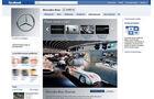 Screenshot,  Autohersteller auf Facebook, Mercedes
