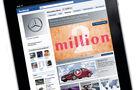 Screenshot,  Autohersteller auf Facebook, iPad