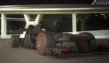 Screenshot Pirelli F1 virtuelle Runde Singapur