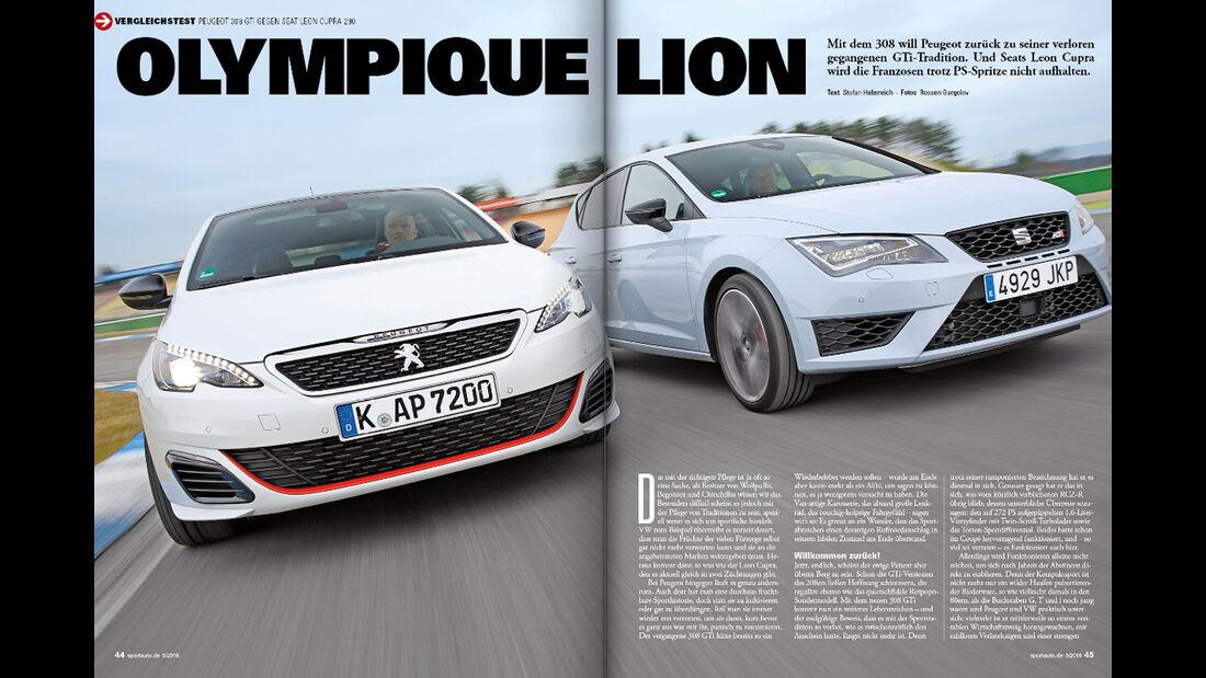 Screenshot - Seat Leon Cupra 290 - Peugeot 308 GTi - Kompaktsportwagen - sport auto 5/2016