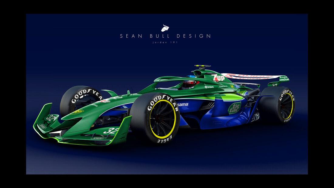 Sean Bull Design - Formel 1 2021 - Lackierung - Jordan 191