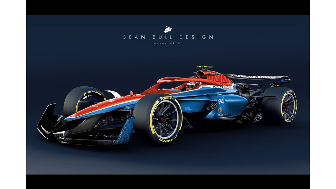 Sean Bull Design - Formel 1 2021 - Lackierung - Manor MRT05