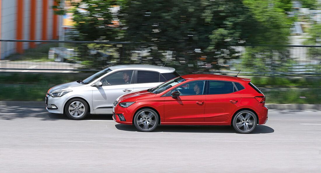Seat Ibiza 1.0 EcoTSI, Hyundai i20 Blue 1.0 T-GDI Seite