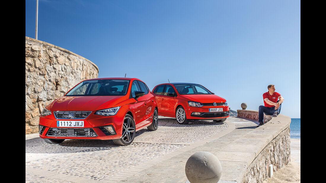Seat Ibiza 1.0 TSI, VW Polo 1.0 TSI, Frontansicht
