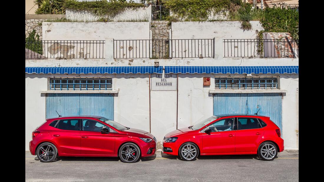 Seat Ibiza 1.0 TSI, VW Polo 1.0 TSI, Seitenansicht