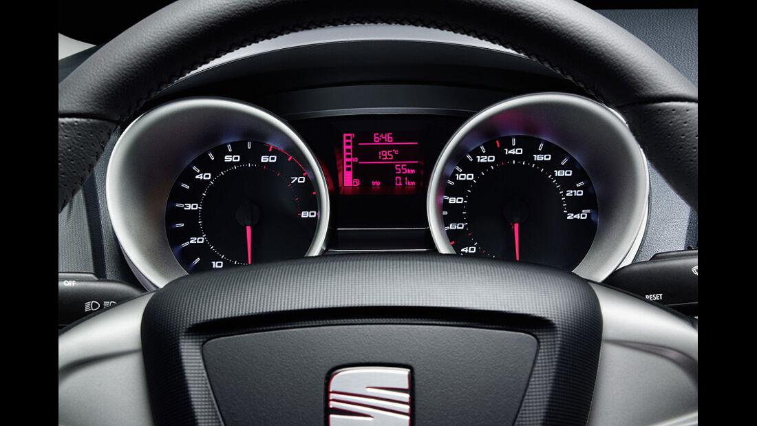 Seat Ibiza 1.2 TSI, Armaturen, Instrumente, tacho