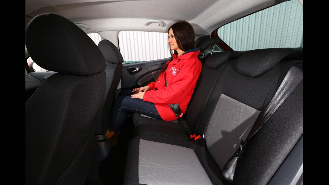 Seat Ibiza 1.2 TSI Ecomotive Style, Rücksitz, Beinfreiheit