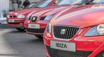 Seat Ibiza, Generationen, Motorhauben