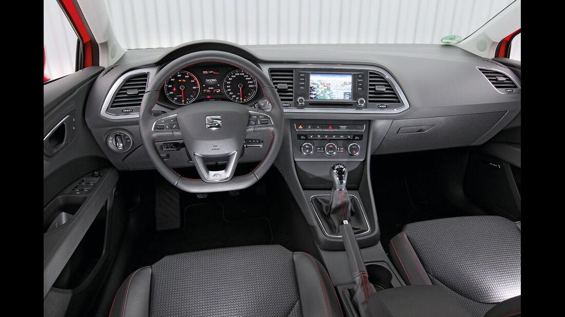 Seat León 1.4 TSI, Cockpit, Lenkrad